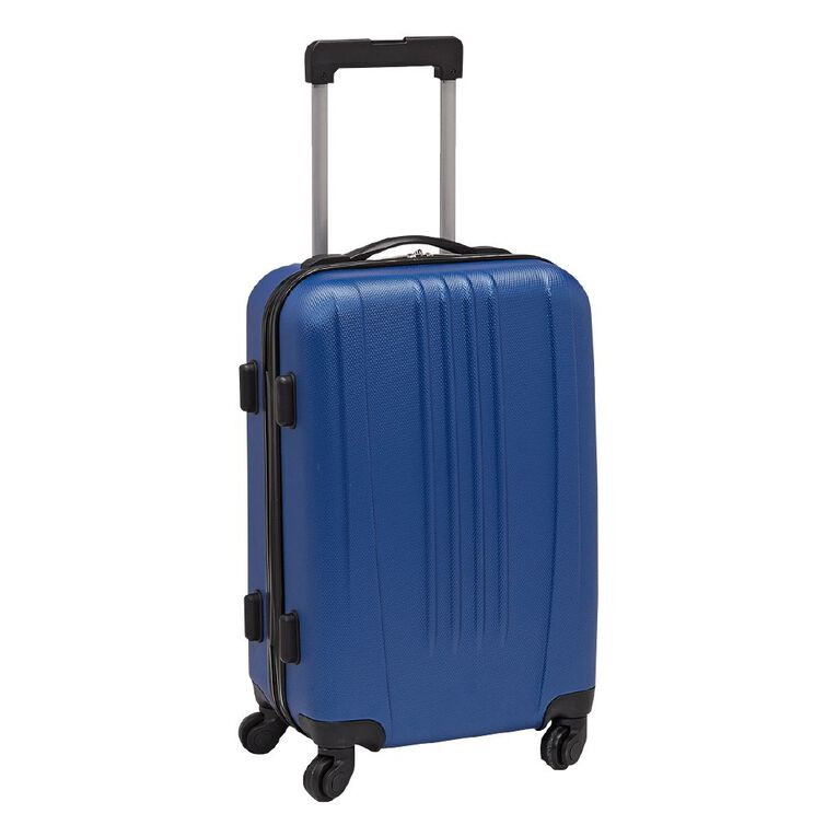 Living & Co Textured Hard Suitcase, Blue, hi-res image number null