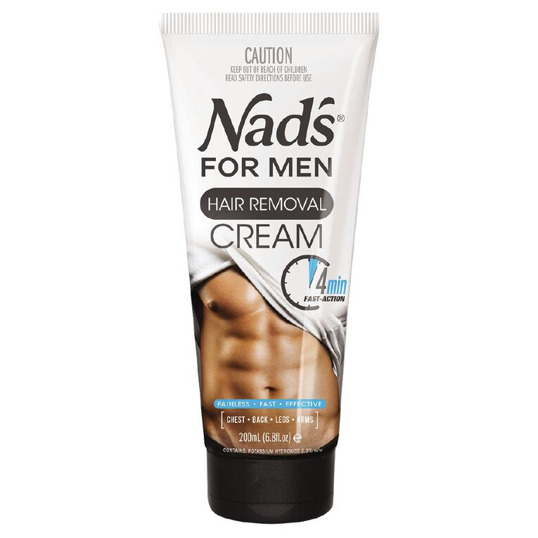 Nads for Men Body Hair Removal Cream 200ml, , hi-res