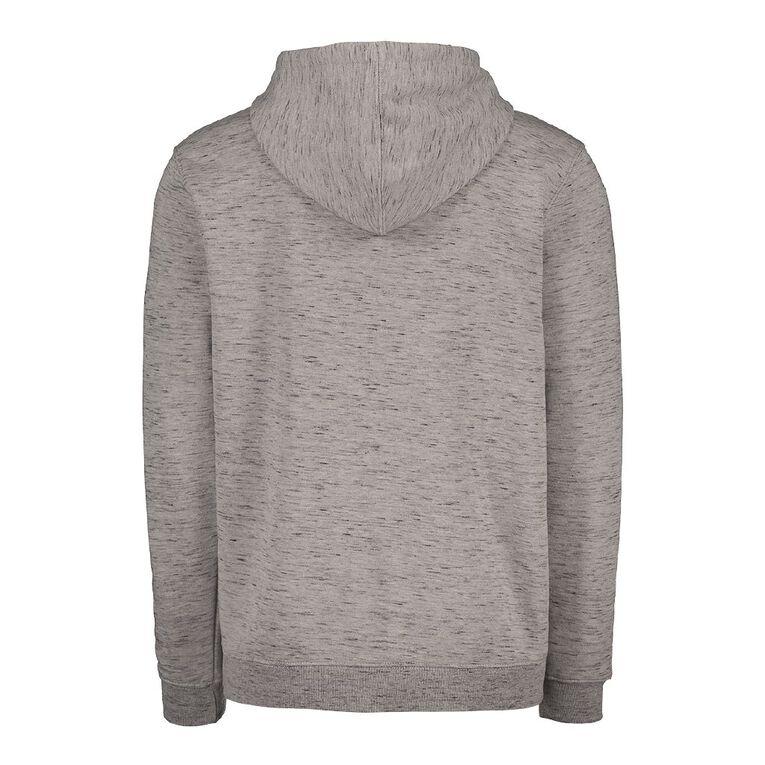 Garage Men's Space Dye Panel Hooded Sweatshirt, Grey Marle, hi-res