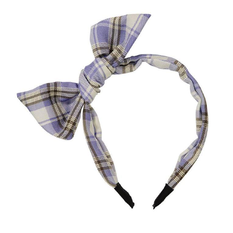 Bow Headband Blue, , hi-res