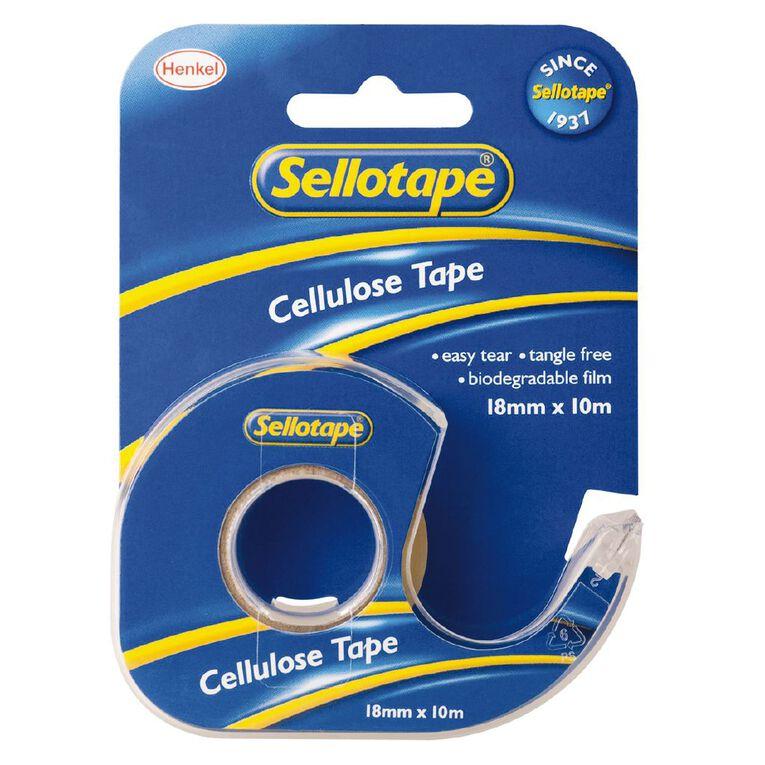 Sellotape Tape Dispenser 18mm x 10m Single Pack Clear, , hi-res