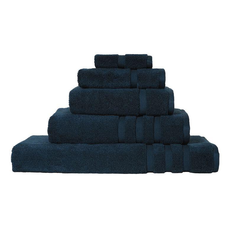 Living & Co Montreal Face Towel Peacock Blue 30cm x 30cm, Blue, hi-res