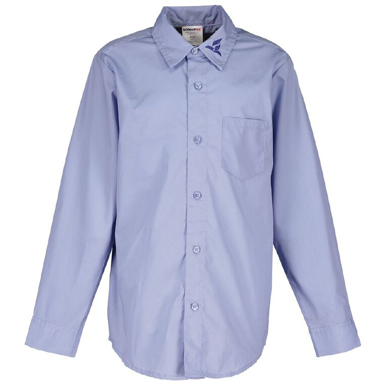 Schooltex SDA Long Sleeve Shirt with Embroidery, Blue, hi-res