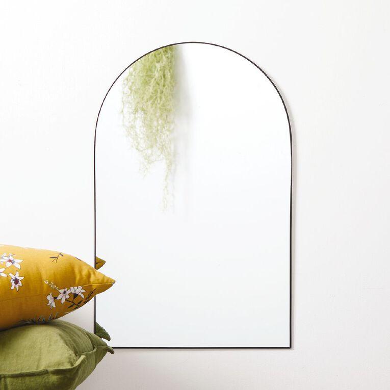 Living & Co Arch Dress Mirror Black 45cm x 70cm, , hi-res