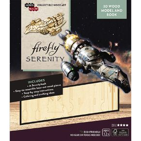 Incredibuilds Firefly Serenity 3D Wooden Model