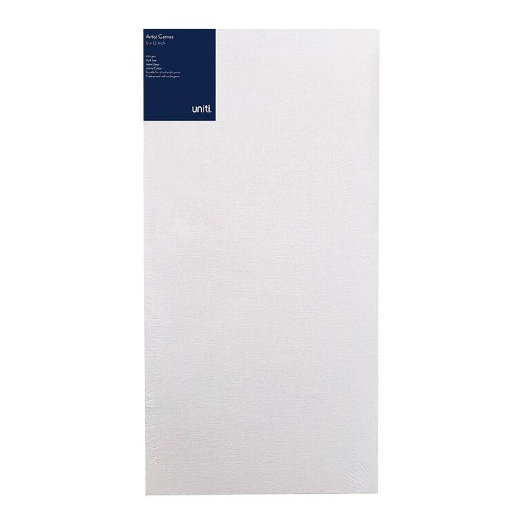Uniti Blank Canvas 280gsm (6in x 12in) 15cm x 30cm, , hi-res