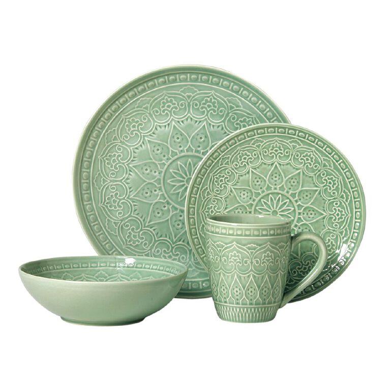 Living & Co Glazed Moroccan Dinner Plate Sage Green, , hi-res