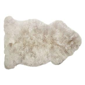 Living & Co Genuine Sheepksin Rug Grey Light 60cm x 90cm