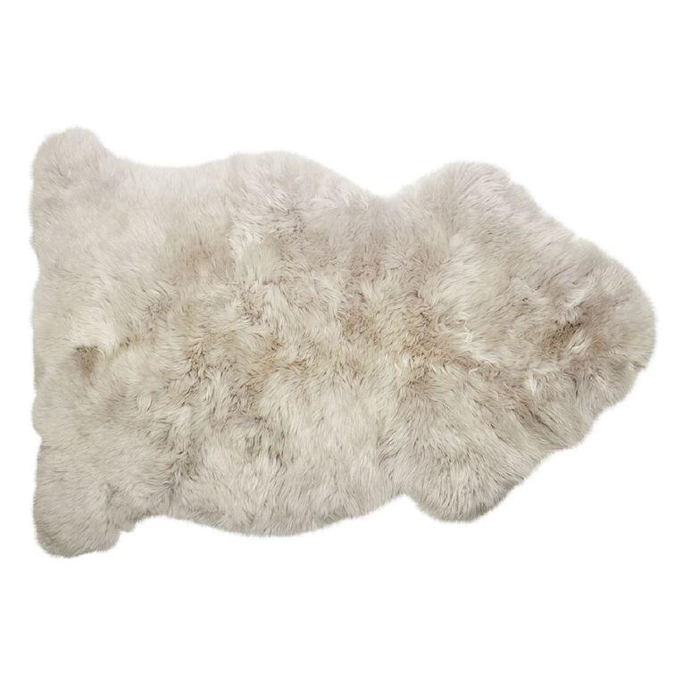 Living & Co Genuine Sheepksin Rug Grey Light 60cm x 90cm, , hi-res