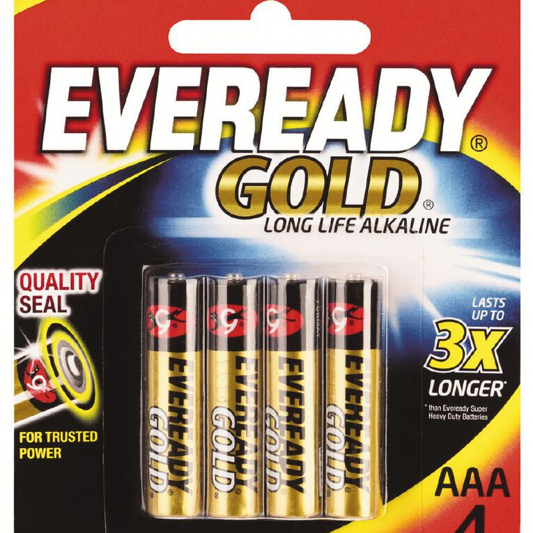 Eveready Gold Batteries AAA 4 Pack, , hi-res