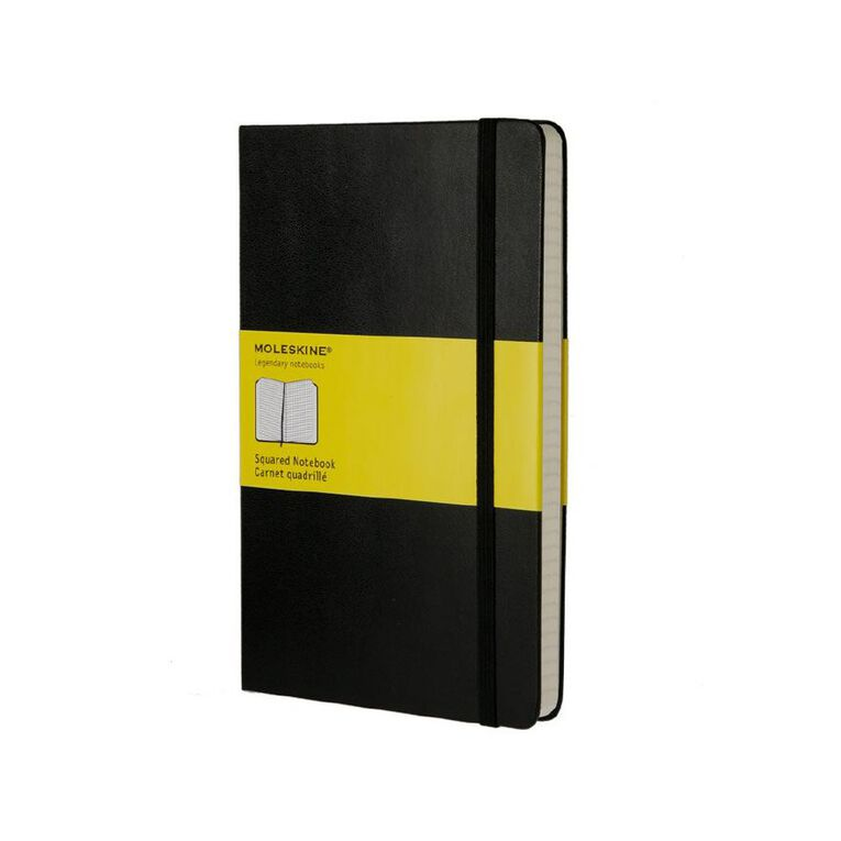 Moleskine Classic Hard Cover Large Notebook Squared Black, , hi-res