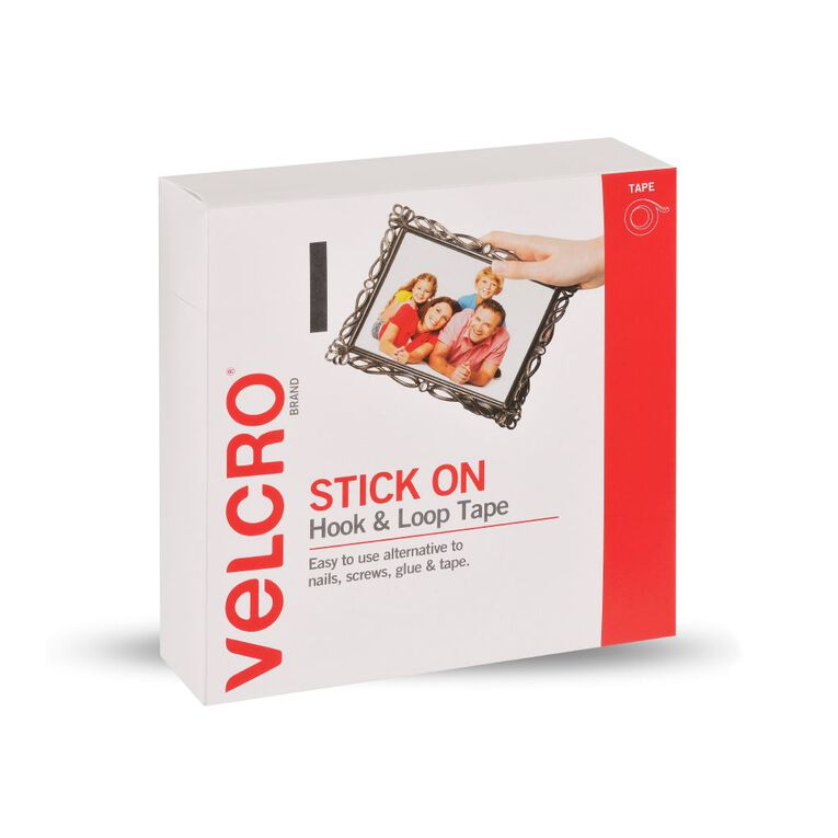 VELCRO Brand Hook & Loop Strip 19mm x 5m White, , hi-res