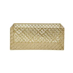 Living & Co Cut Out Metal Crate Small Gold
