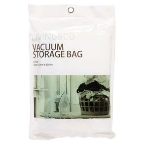 Living & Co Vacuum Storage Bag Large Clear 2 Pack