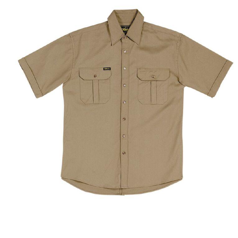 Bisley Workwear Short Sleeve Shirt, Khaki, hi-res