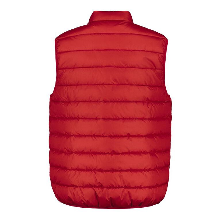 H&H Men's Recycled Puffer Vest, Red, hi-res