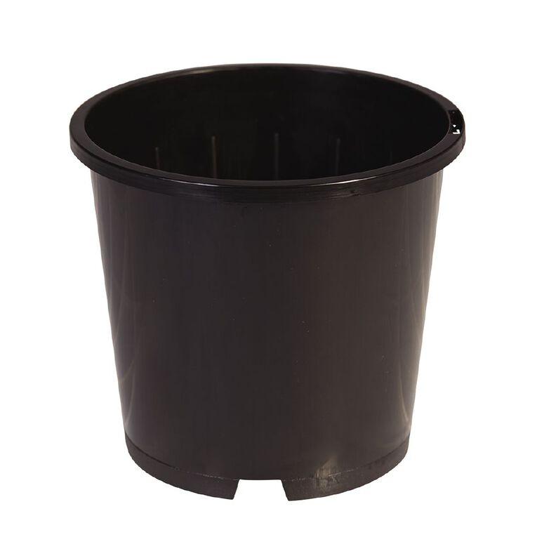IP Plastics Round Pot 18cm Black 3.3L, , hi-res