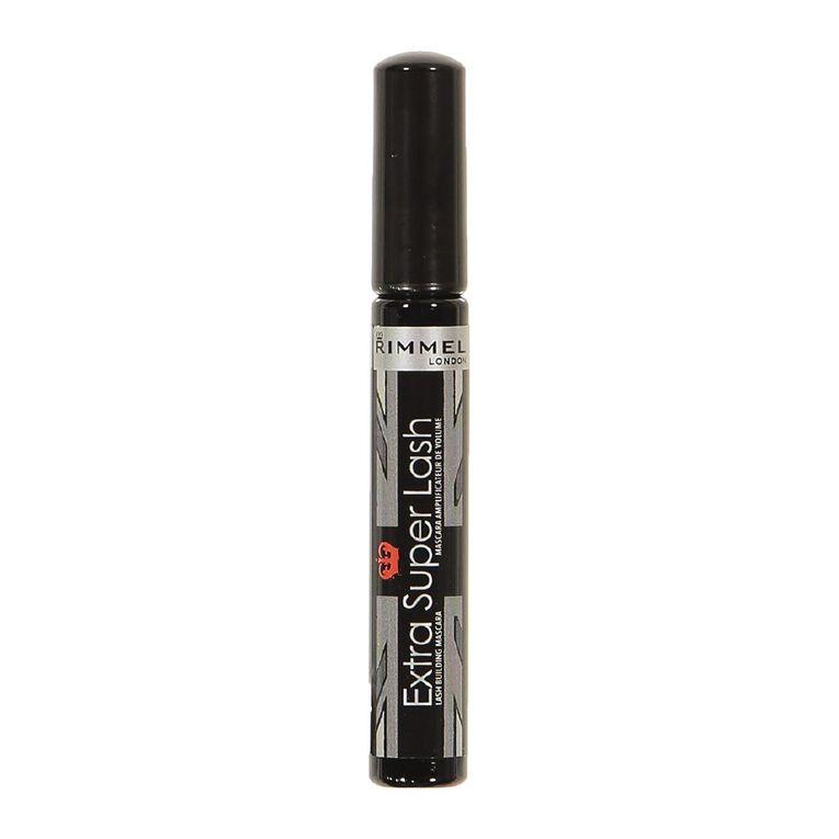 Rimmel Extra Super Lash Mascara Black Black, , hi-res