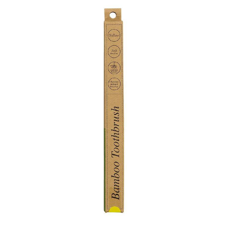 Bamboo Toothbrush Soft Yellow 1 Pack, , hi-res image number null