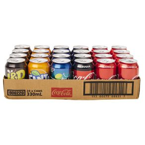 Coca Cola Mixed Tray 330ml 24 Pack