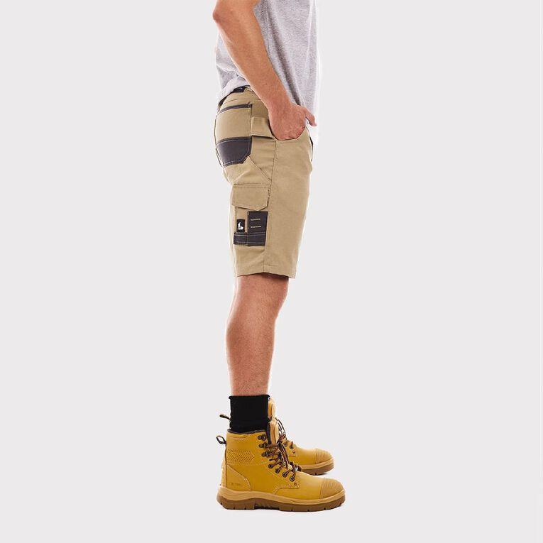 Tradie Flex Contrast Cargo Shorts, Khaki, hi-res image number null