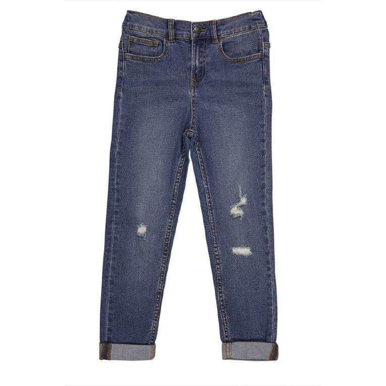 Young Original Distressed Roll Hem Jeans, Denim Light, hi-res