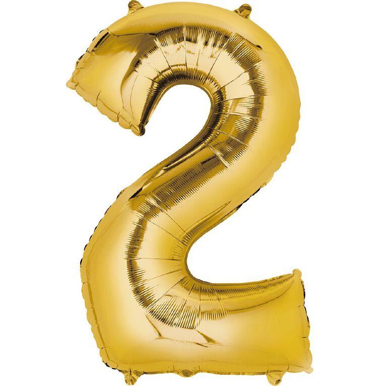 Anagram #2 Foil Balloon Supershape 36in Gold, , hi-res
