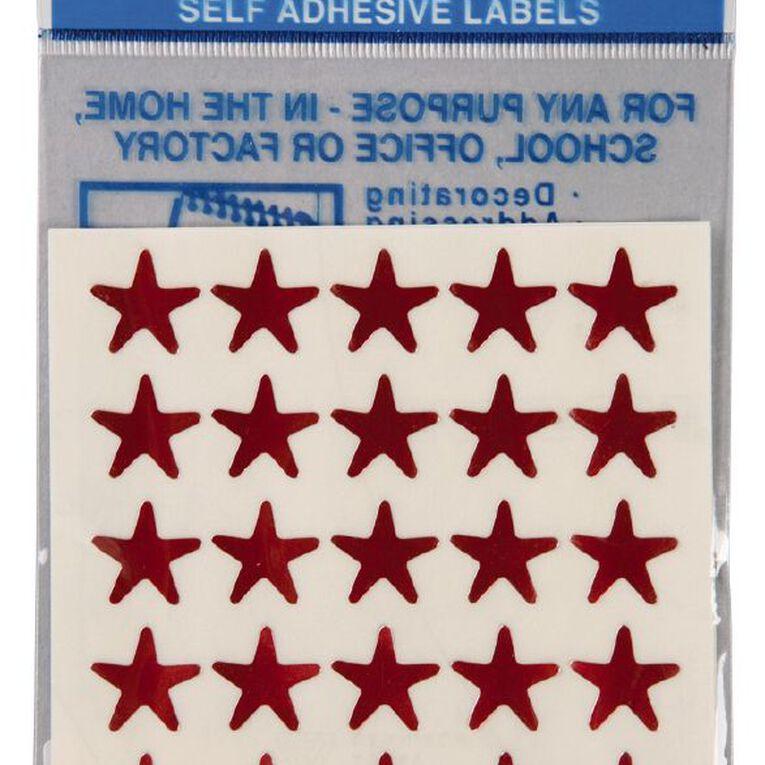 Quik Stik Labels Stars 150 Pack Red, , hi-res