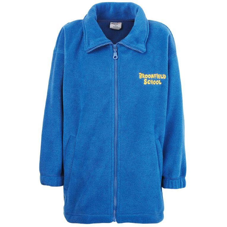 Schooltex Broomfield Polar Fleece Jacket with Embroidery, Royal, hi-res