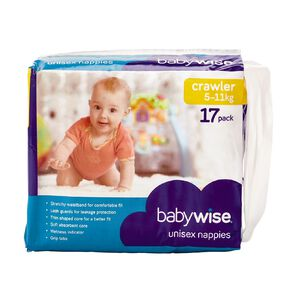Babywise Nappies Crawler Convenience 17 Pack
