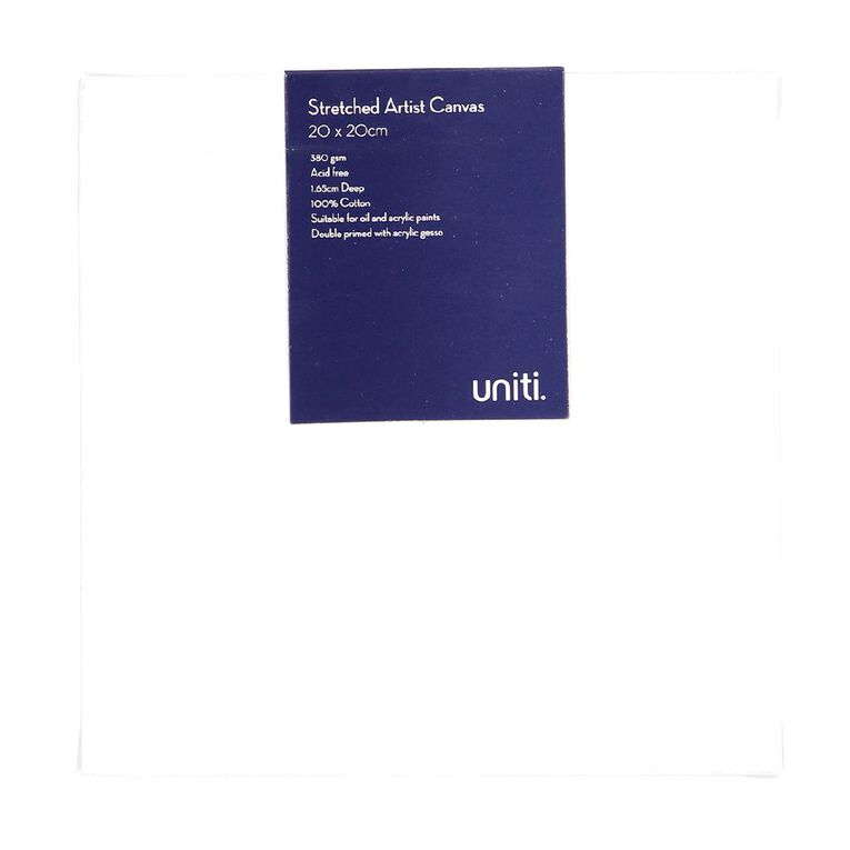 Uniti Blank Canvas 280gsm (4in x 4in) 20cm x 20cm, , hi-res image number null