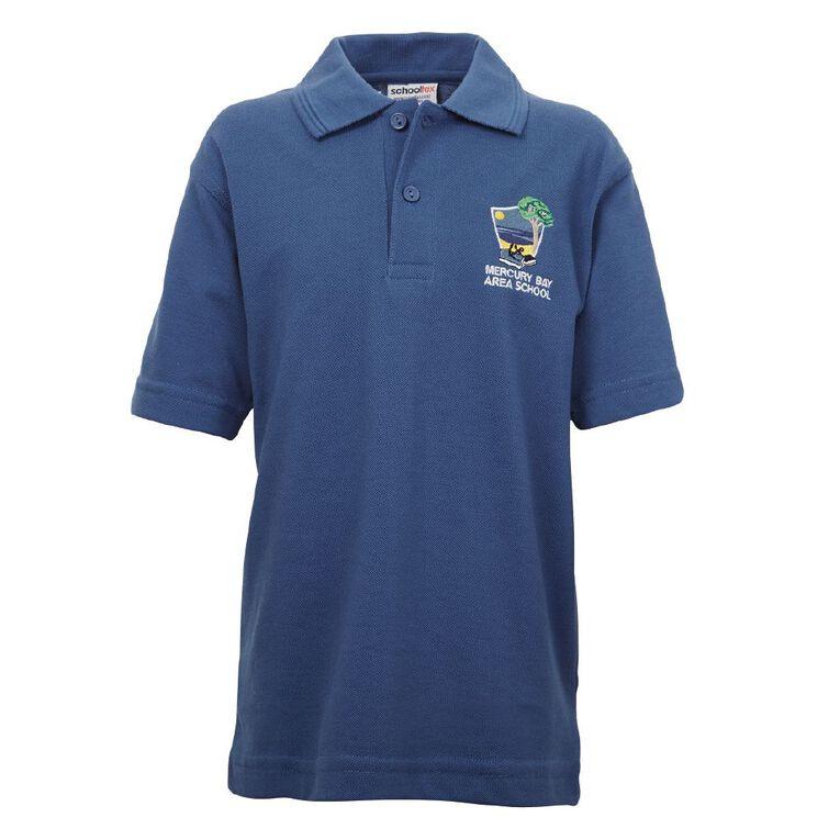 Schooltex Mercury Bay Area School Short Sleeve Polo with Embroidery, Royal, hi-res