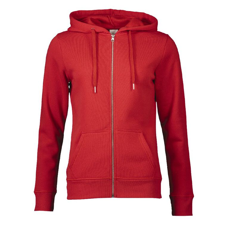 H&H Women's Zip Thru, Red, hi-res