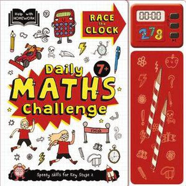 Help With Homework: 7+ Maths Challenge Pack, , hi-res