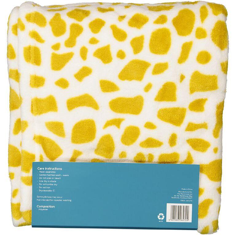 Babywise Hooded Blanket Giraffe, , hi-res