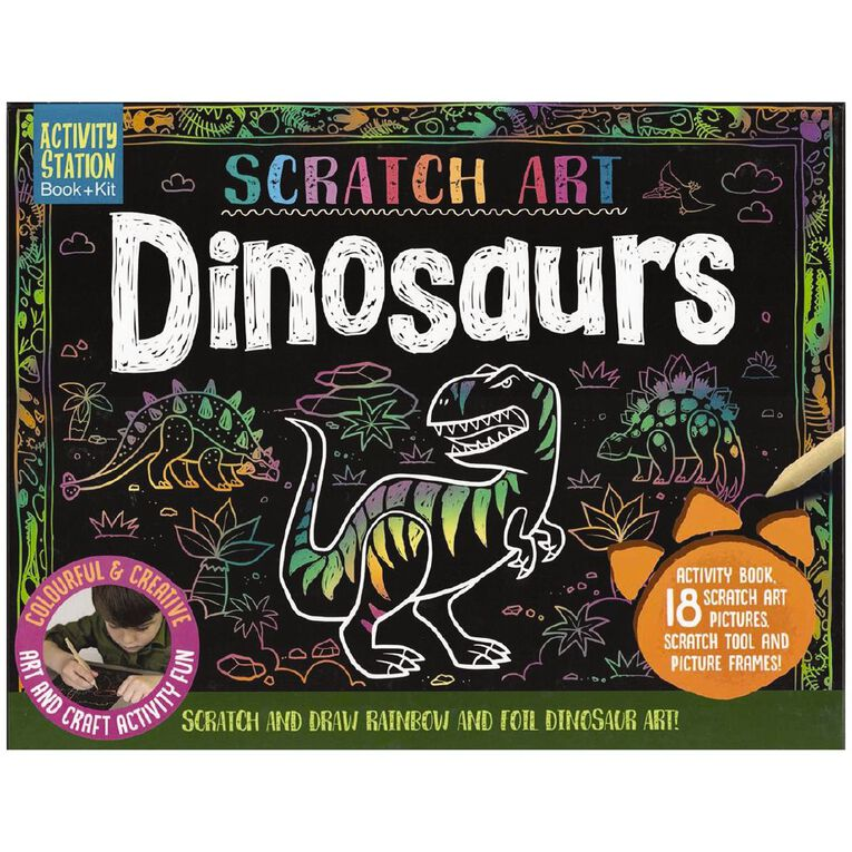 Activity Station: Scratch Art Dinosaurs, , hi-res