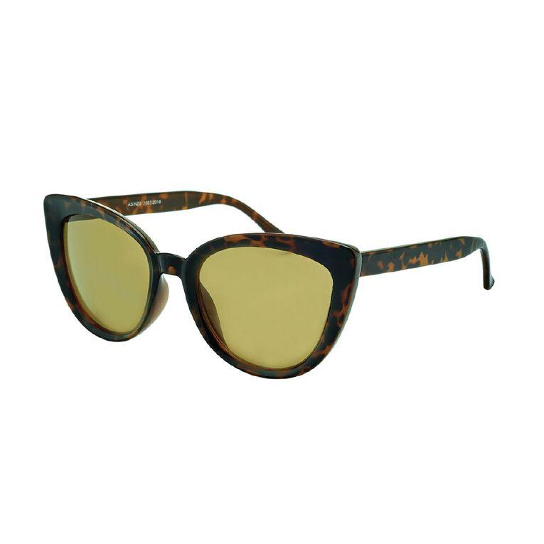 H&H Women's Cat Tortoiseshell Sunglasses, Brown, hi-res