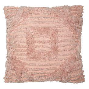 Living & Co Edith Tufted Cushion Peach Whip Pink 45cm x 45cm