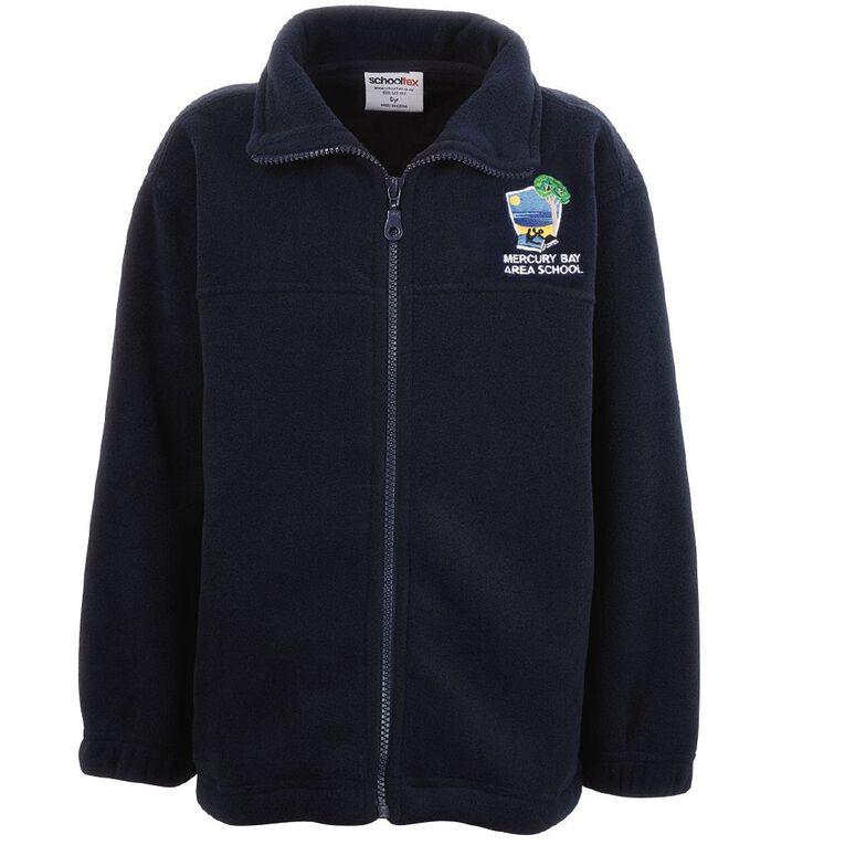 Schooltex Mercury Bay Area School Polar Fleece Jacket with Embroidery, Navy, hi-res