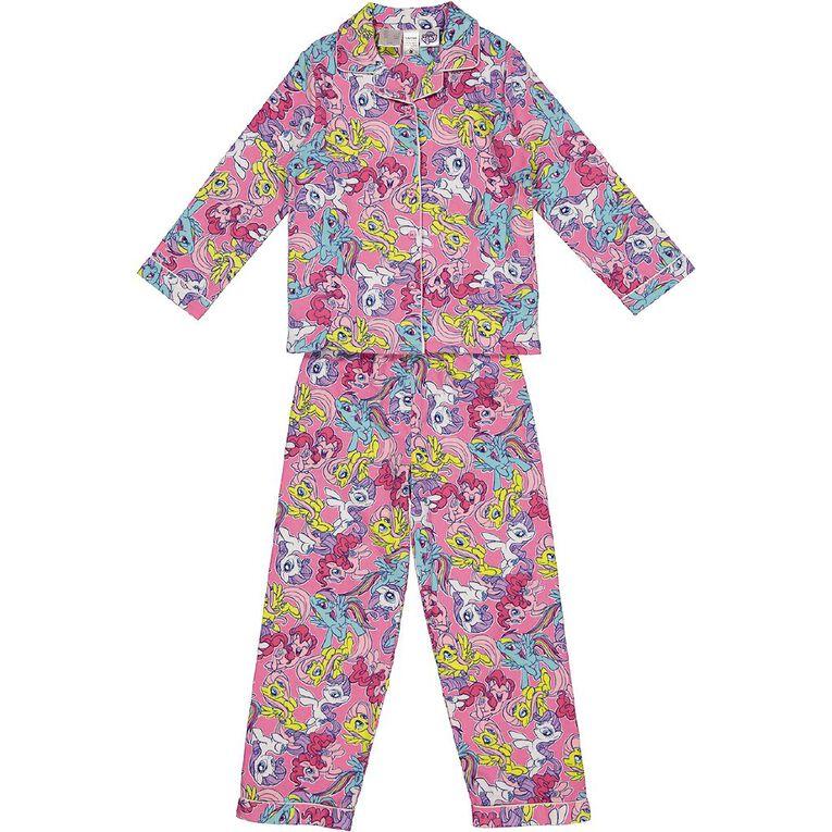 My Little Pony Kids' Flannelette Pyjamas, Pink Dark, hi-res