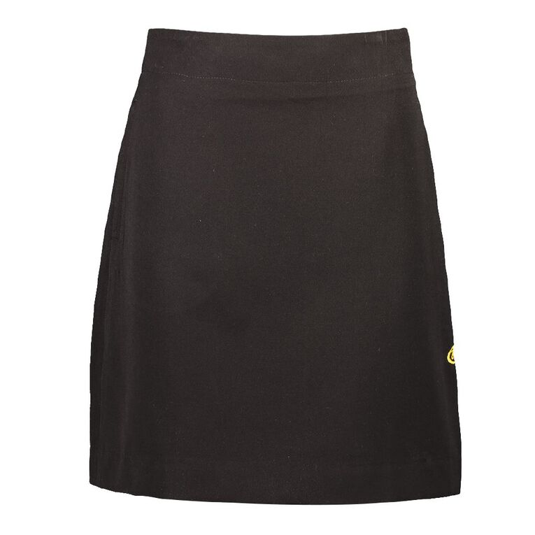 Schooltex Bream Bay College Skirt with Embroidery, Black, hi-res