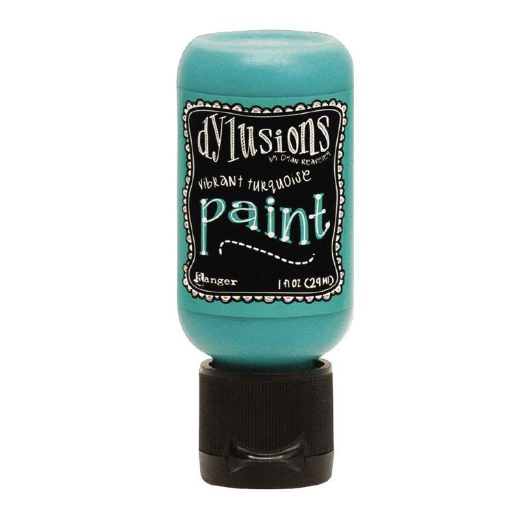 Ranger Dylusions Paint Flip Top Vibrant Turquoise 1 oz, , hi-res
