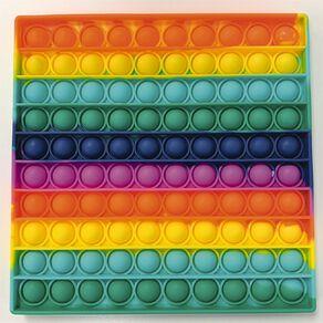 Fidget Pop-It Mega Rainbow Square