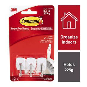 Command Wire Hooks White Small