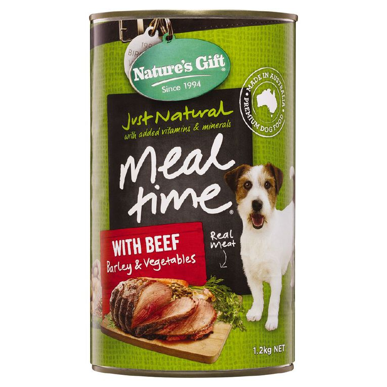 Nature's Gift Meal Time Loaf Beef Barley Veg 1.2kg, , hi-res