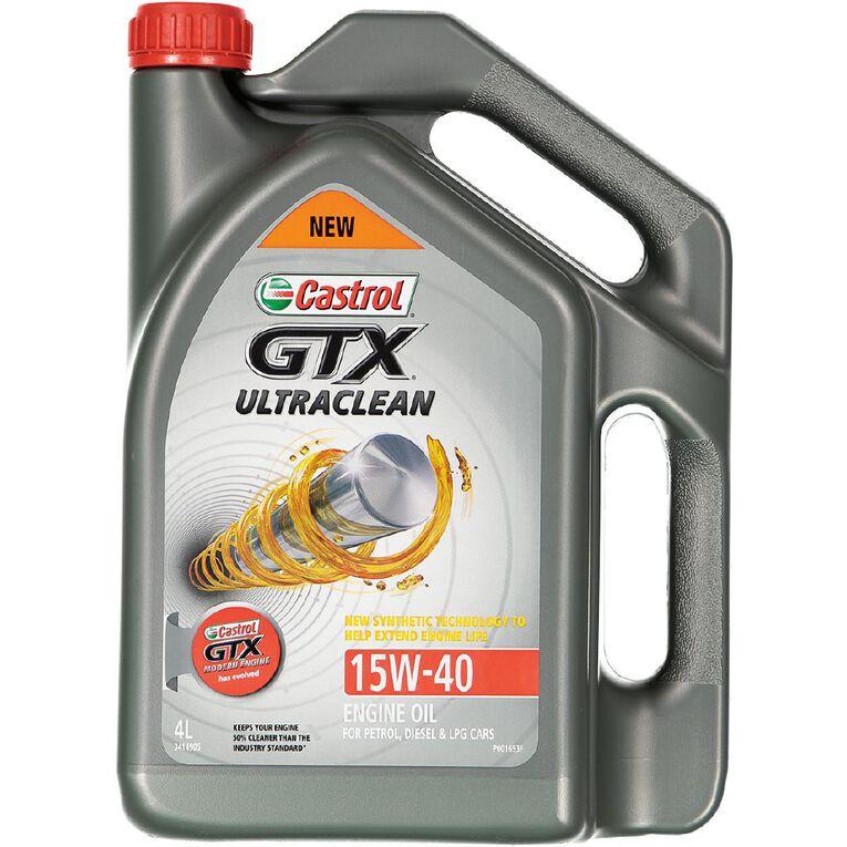 Castrol GTX Ultraclean 15W-40 Engine Oil 4L, , hi-res