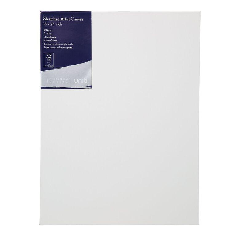 Uniti Platinum Canvas 18x24 Inches 380Gsm, , hi-res