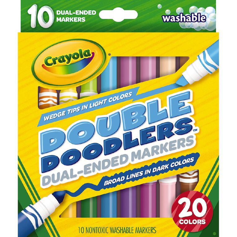 Crayola Double Doodler Dual Ended Markers 10 Pack, , hi-res