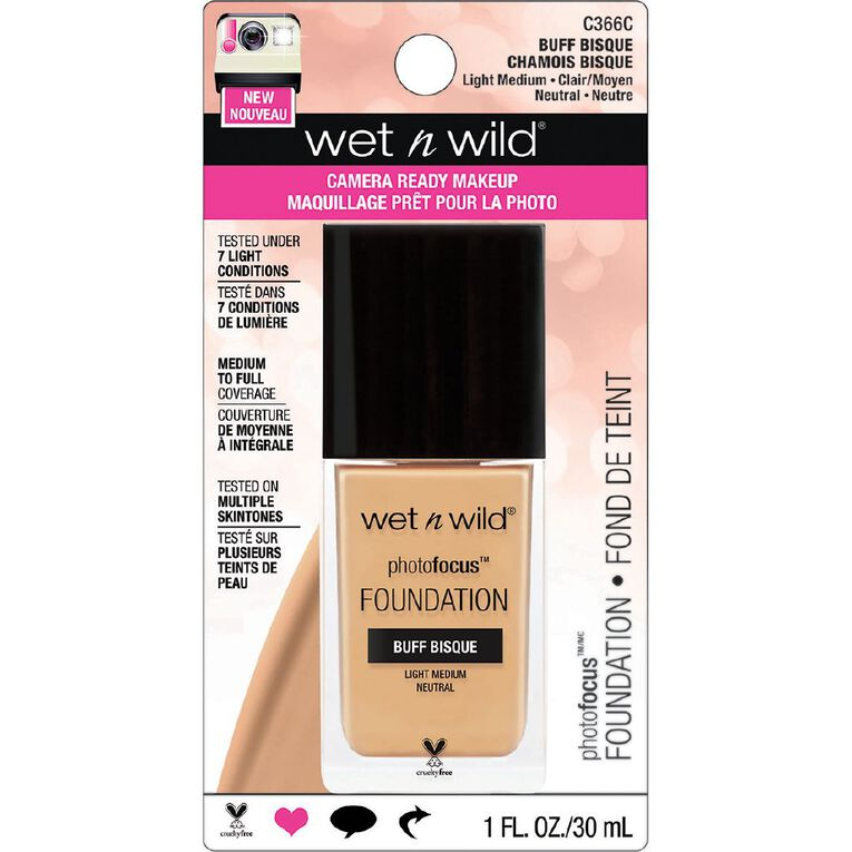 Wet n Wild Photo Focus Foundation  Buff Bisque, , hi-res