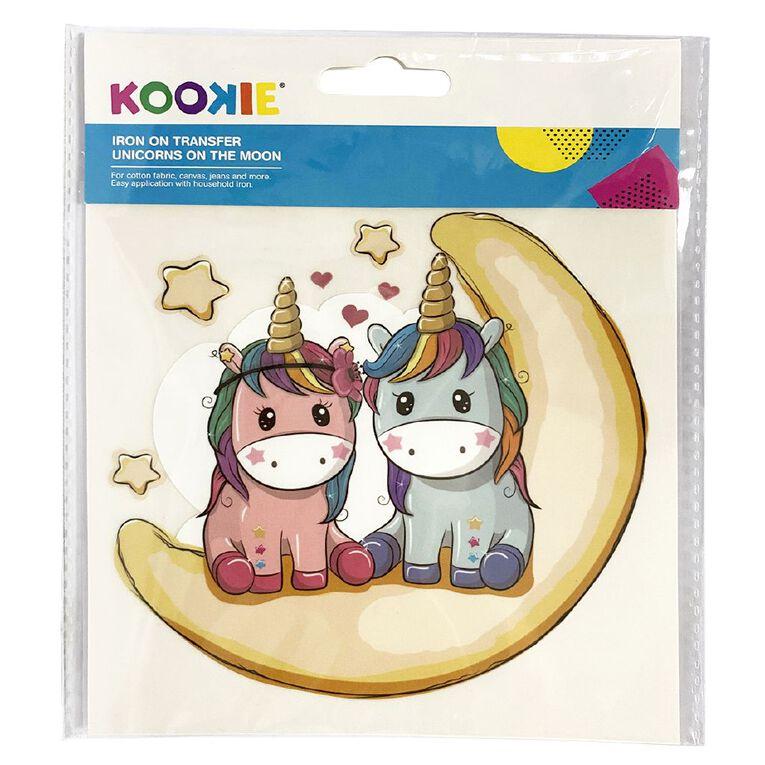 Kookie Iron on Transfer Unicorns on the Moon, , hi-res